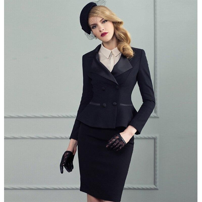 Для женщин Костюмы юбочные для женщин женские офисные Костюмы юбочные для женщин Комплект Высокое качество Новый 2017 ПР Формальные Повседне