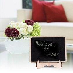 1 STÜCK Mini Tafel Holz Rechteck Form Kleine Tafel Meldung Anzahl Tag Bord Hochzeit Tischdekoration Heißer Verkauf
