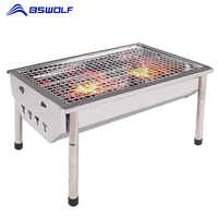BSWolf Portable Outdoor Camping BBQ Stove 430 Stainless Steel Grill Small Oven Thickening Picnic Barbecue Tools For 2 4 Persons|portable outdoor|oven bbq|portable camping oven -