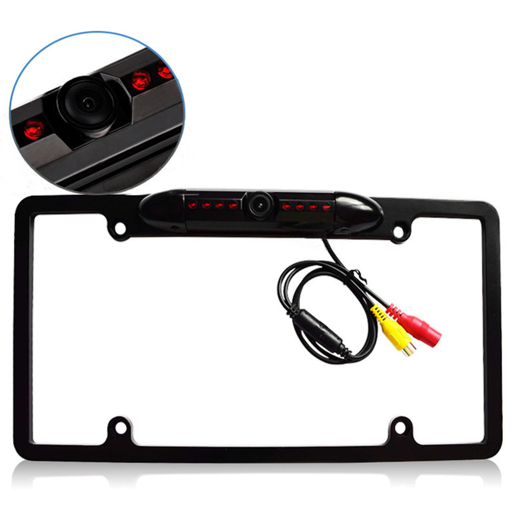Image 3 - License Plate Frame With Camera Led Auto Reverse Waterproof Universal HD Cars Auto Accessories Night Vision Rear View Backup-in License Plate from Automobiles & Motorcycles