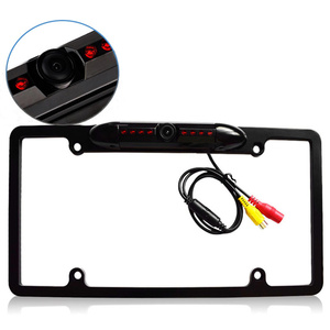 Image 3 - License Plate Frame With Camera Led Auto Reverse Waterproof Universal HD Cars Auto Accessories Night Vision Rear View Backup