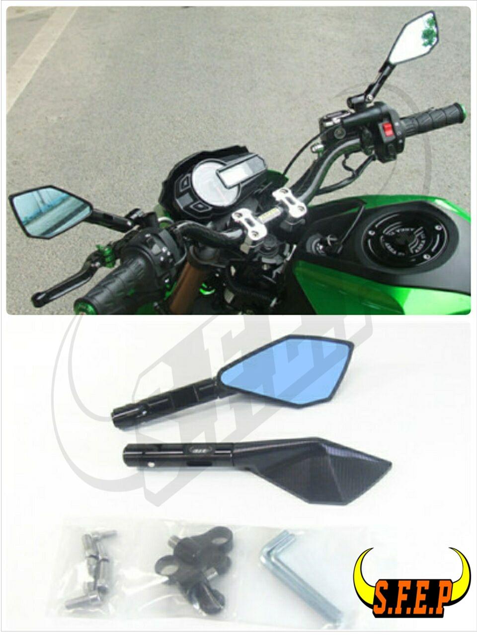 Motorcycle Univers CNC Aluminum Handle Bar Mirrors For BMW Kawasaki Honda KTM Yamaha Suzuki Ducati Aprilia Triumph Buell Guzzi