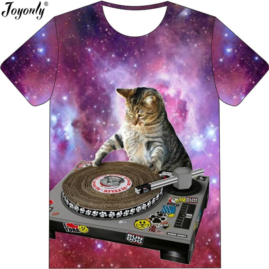 Joyonly nuovo galaxy spazio colore della maglietta dei