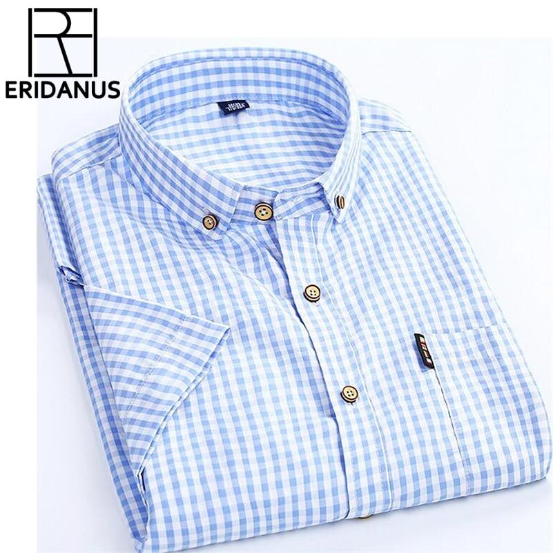 High Quality Men Shirt 2017 Brand Business Casual Short Slee