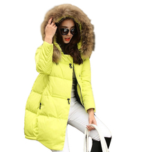 Basic Coats New Women 2016 Parka Hooded Winter Jacket Women Fur Collar Winter Coat Women Zipper Women's Jacket A896