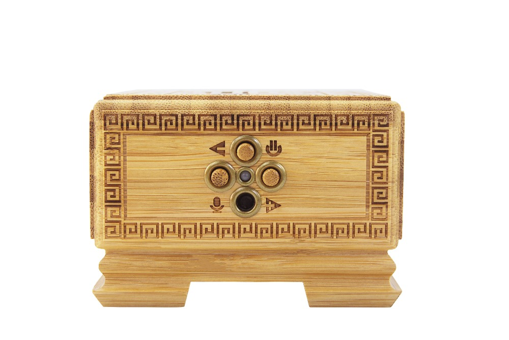 Bamboo Stereo Version Of Portable Bluetooth Speaker With Volume Amplifier Amplifier 5 Watt Power, Bluetooth Audio Playback