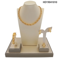 Yulaili New Arrivals Golden Plated Jewelry Sets Nigerian Wedding Jewelry Sets For Women Trendy Jewelry Set