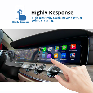Image 2 - RUIYA 2Pcs Screen Protector For 2019 G Class W464 12.3 Inch Car Navigation Display Screen Auto Interior Stickers Accessories