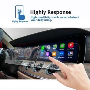 Image 2 - Ruiya 2 pçs protetor de tela para 2019 g class w464 12.3 Polegada tela de navegação do carro auto interior adesivos acessórios