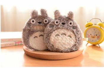 5 pieces NEW Super Kawaii Fluffy TOTORO Plush Coin Purse Wallet Pouch Case BAG Totoro Plush Coin Purse Key Wallet Card Bag 2017 new designs solid colors coin purse silicone round dollar coin wallet portable key bag case headphone storage zipper pouch