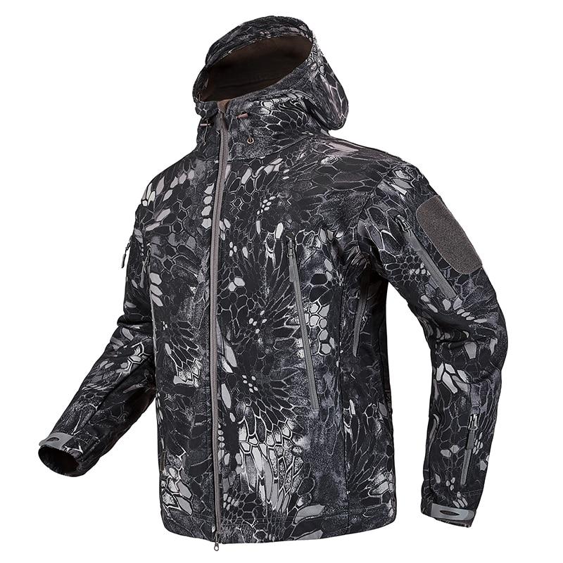 S.ARCHON Shark Skin Soft Shell Tactical Military Jacket Men Fleece Waterproof Army Clothing Multicam Camouflage Windbreakers Men 13