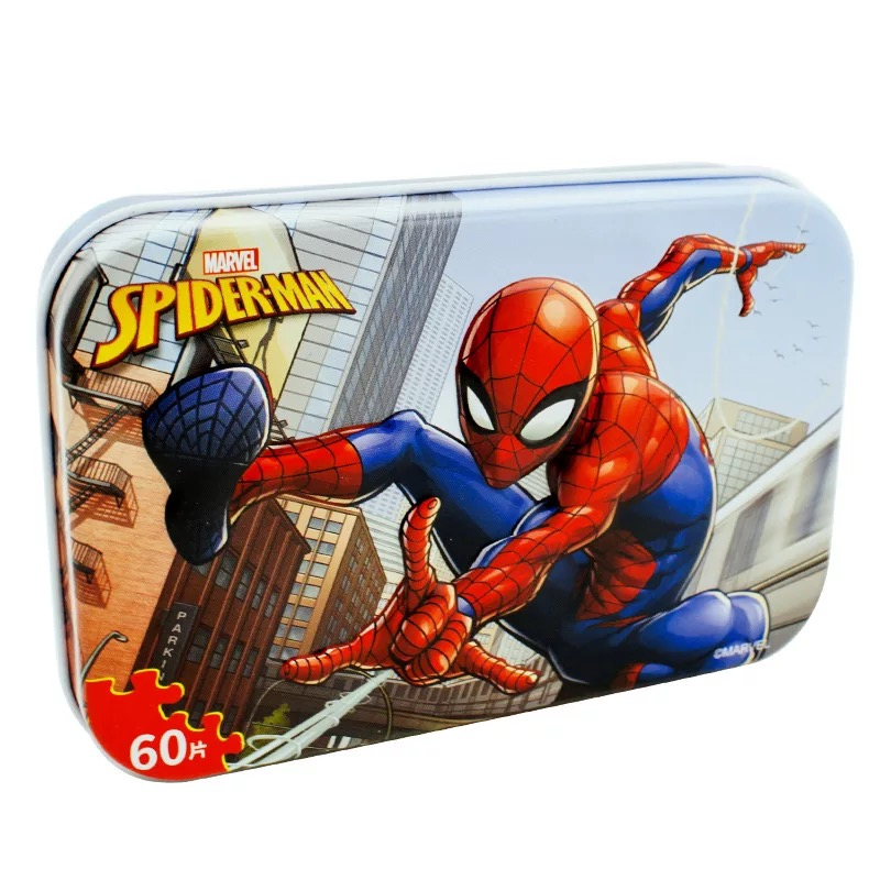 Original Disney  Avengers Spiderman Car Disney Puzzle Toy Children Wooden Jigsaw Puzzles Kids Educational Toys for Children Gift 2