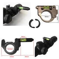 Firecub-visor táctico de montaje del Rifle, visor para 25,4/30mm, tubos de mira telescópica, nivel de burbuja, accesorios de caza