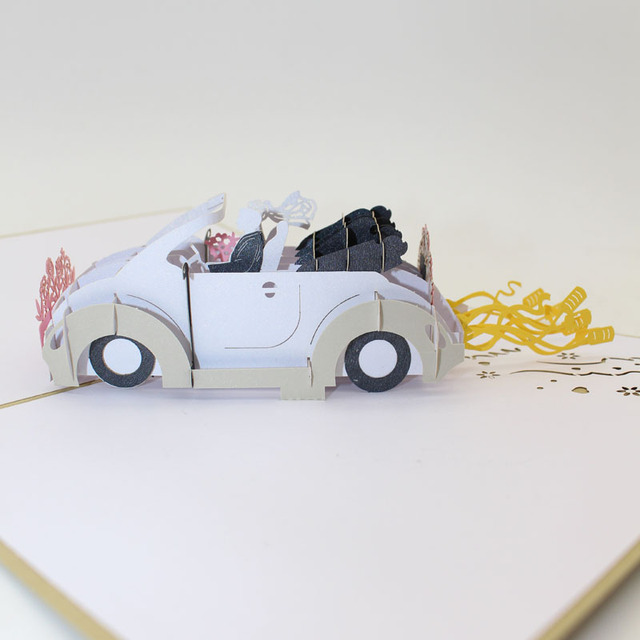 3d laser cut handmade fashion cool bride and groom sports car paper 3d laser cut handmade fashion cool bride and groom sports car paper wedding invitation greeting cards m4hsunfo