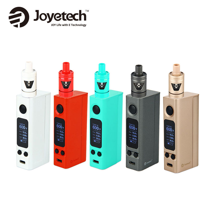цена Original Joyetech EVic Starter Kit with 4ml Capacity TRON-S Tank & 75W EVic VTwo Mini MOD Vape E-Cigarette Kit No18650 Battery