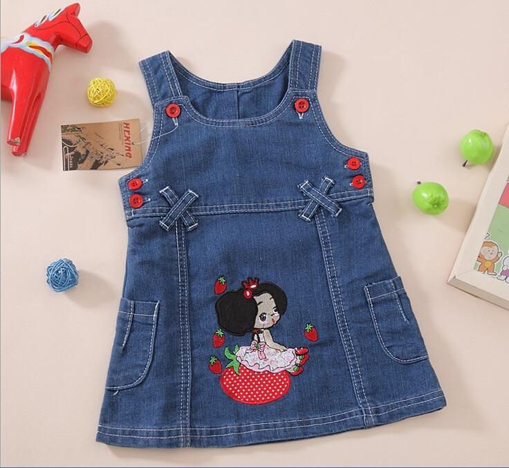 Pulsuz çatdırılma 2018 bahar payız uşaq moda cute denim geyim, - Uşaq geyimləri - Fotoqrafiya 4