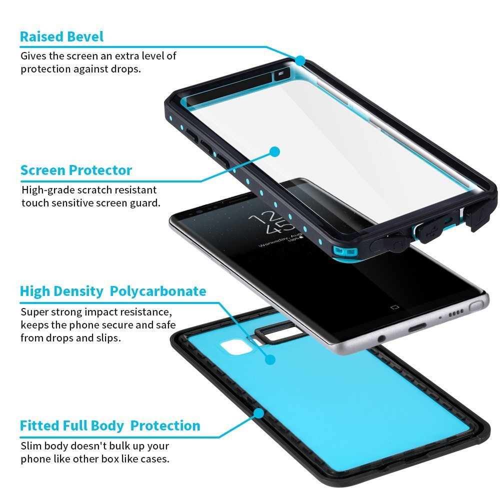 Case for Samsung note8 Waterproof Shell GALAXY note9 Waterproof phone cover