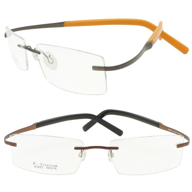 c5c87a811862 ... beta titanium prescription glasses with durable IP vacuum color coating  rectangle shape simple bendable eyeglasses on Aliexpress.com