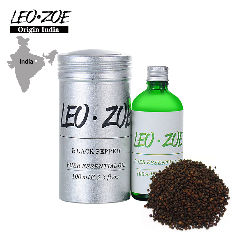 LEOZOE Black Pepper Essential Oil Certificate Origin India High Quality Aromatherapy Black Pepper Oil 100ML Aceite Esencial well known brand leozoe clary sage essential oil certificate of origin russia high quality aromatherapy clary sage oil 30ml