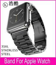 3 Pionters Noir Métal Bracelet Pour Hoco Apple Watch Lien Bracelet 42mm 38mm Avec 316L En Acier Inoxydable D'origine Adaptateurs