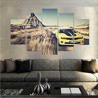 Big Desert Yellow Super Car Oil Painting Wall Art Home Decoration Canvas Paintings For Living Room