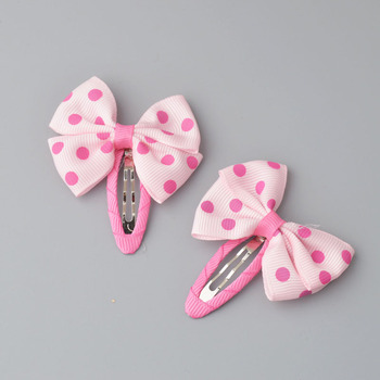 YYXUAN 2 pieces Girl Boutique Hair Bows Barrettes Clips For Kids Toddlers Girls Printing Bow Hairgrips 4