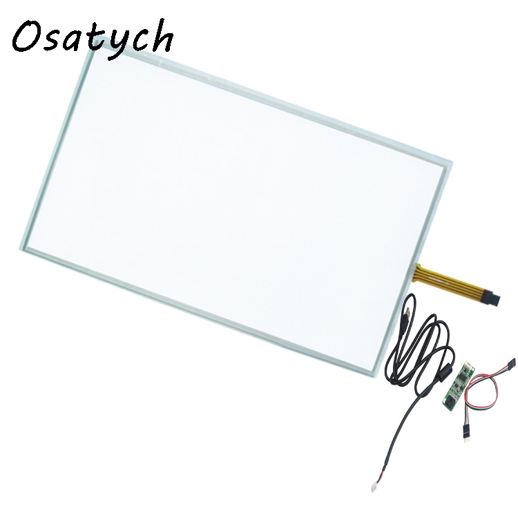 15.6 Inch Touch Screen Panel 358x208mm 4Wire Resistive USB Kit for 15.6 Monitor 16:9 15 inch resistive touch screen panel 322mmx247mm 5wire usb kit for 15 monitor