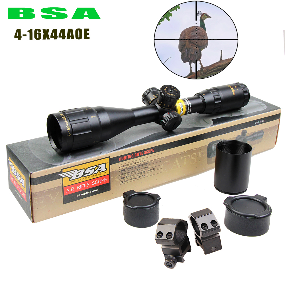 New Aim Optical Sight BSA 4-16X44AOE Riflescope Outdoor Hunting Optics Sight Scope For airgun airsoft rifle sniper accessories luger outdoor optical sight 4 16x44aoe riflescope hunting optics scope for gun airsoft rifle sniper accessories