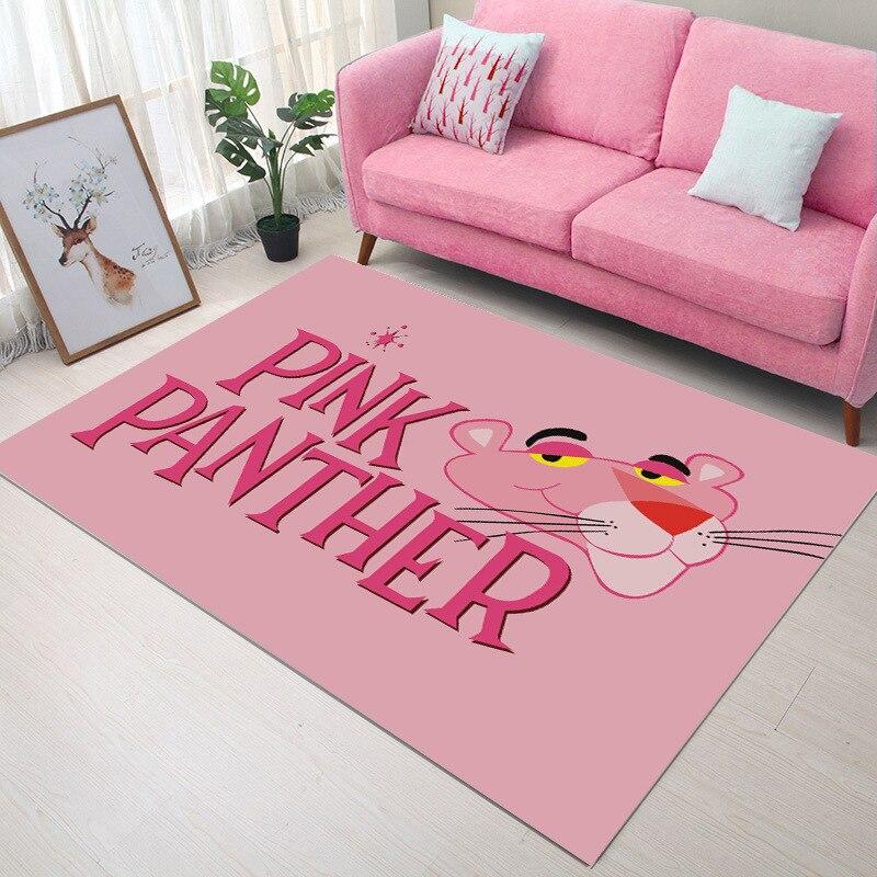 Pink PAnther  INS Rectangle New Modern Home Mat Room Area Rug Floor Carpet For Living Room Bedroom Carpets Kitchen Mat MT93
