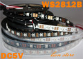 1 m/5 m WS2812B Inteligente tira llevada del pixel, Negro/Blanco PCB, 30/60/144 leds/m WS2812 IC; WS2812B/M 30/60/144 pixels, IP30/IP65/IP67 DC5V