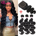 Queen Hair Brazilian Body Wave With Closure 3 Bundles With Closure Brazilian Body Wave With Closure Brazilian Virgin Hair