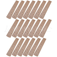 Kmise Maple 21 Inch Soprano Ukulele Fretboard Fingerboard 15 Frets Ukulele Parts Pack Of 20