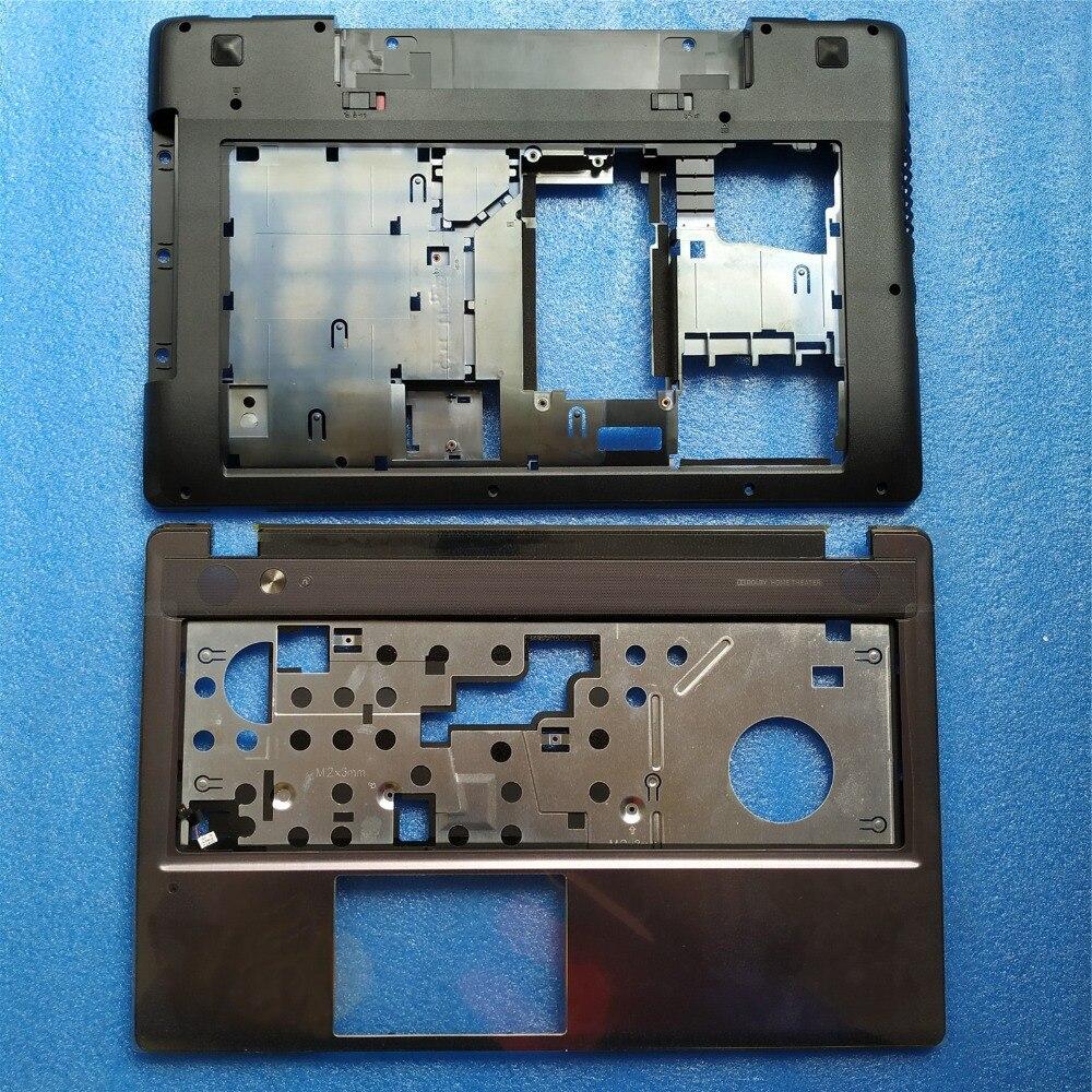 New Original Lenovo IdeaPad Z580 Z585 Back Cover Base Shell Bottom Case Black Color 3ALZ3BALV00 Palmrest