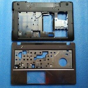 New Original Lenovo IdeaPad Z580 Z585 Back Cover Base Shell Bottom Case Black Color 3ALZ3BALV00 &Palmrest Keyboar Cover(China)