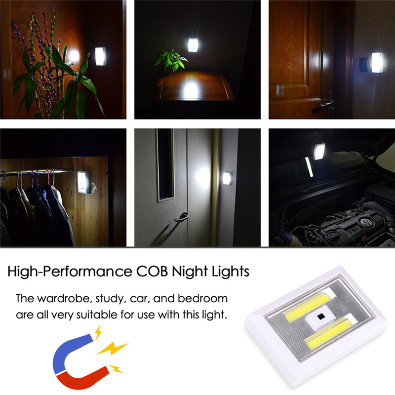 Lighting Basement Washroom Stairs: COB LED Wireless PIR Auto Motion Sensor Infrared Night