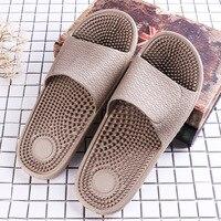 Massage Slippers Male Household Bedroom Bathroom Anti skid Health Eva Base Plastic Slippers Men Shoes Sandalias Hombre