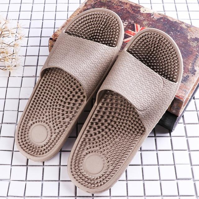 e140d4521c1b0 Massage Slippers Male Household Bedroom Bathroom Anti-skid Health Eva Base  Plastic Slippers Men Shoes Sandalias Hombre