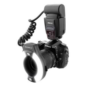 Image 2 - Meike MK 14EXT אני TTL מאקרו טבעת פלאש למצלמה ניקון D850 D7500 D810 D80 D800 D90 D5 D4 D600 עם LED AF לסייע מנורה