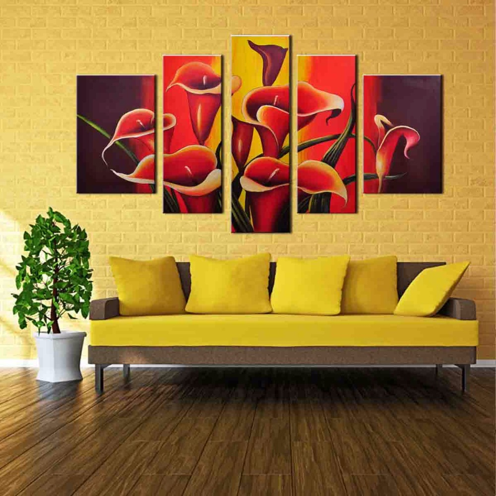 Large Canvas Prints Picture Wall Art HD Paintings Trumpet Flowers ...