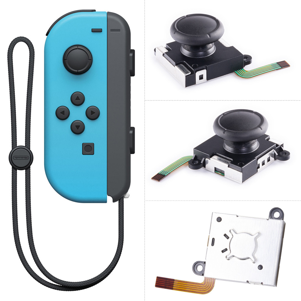 Image 4 - 3D Analog Sensor Stick Joystick Repair Parts Kits For Nintend Switch Controller Joy con 16PCS Game Machine Tool Install Remove-in Replacement Parts & Accessories from Consumer Electronics