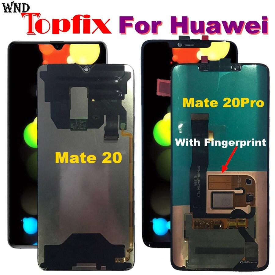 Huawei Compagnon 20 Pro écran LCD ensemble numériseur à écran tactile De Réparation Compagnon 20 D'origine Huawei Compagnon 20 LCD Mate20 Pro Écran