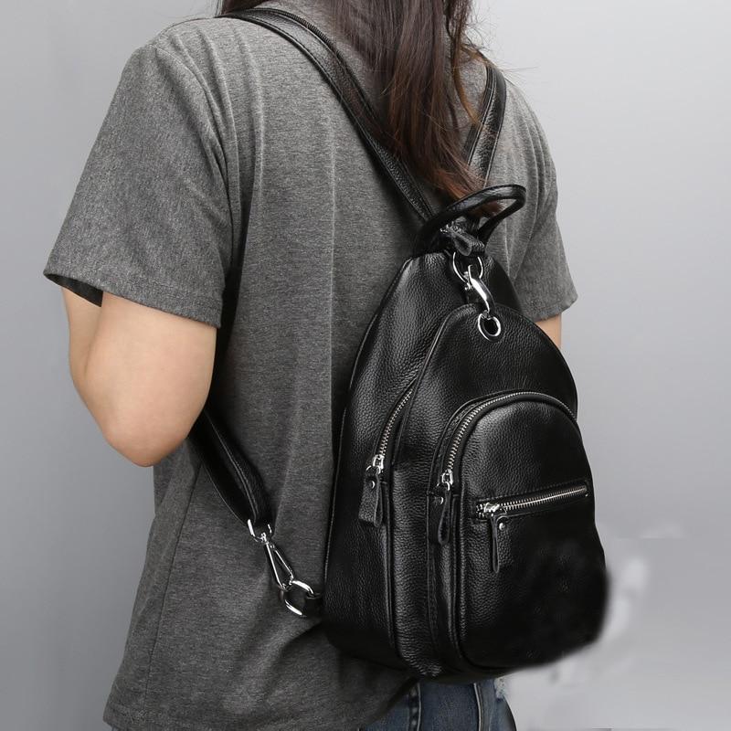 Genuine Leather Backpack 2017 New Backpack Women School Bags Teenagers Backpacks Teenage Girls Laptop Casual Travel Rucksack 100% genuine leather laptop backpacks for teenagers 7273a