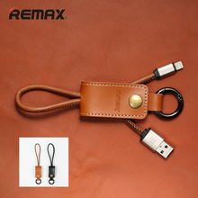 Remax USB Cable 8pin 3.0 & Leather Keychain Fast Charging Data Sync Charger Cable For iPhone 5/5c/5s/6/6S/6 Plus iPad Air /Mini