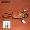 Remax USB Cabo 8pin 3.0 & Chaveiro De Couro de Carregamento Rápido cabo do carregador de sincronização de dados para iphone 5/5c/5s/6/6 s/6 plus ipad air/Mini