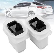 Mayitr – support de siège arrière en plastique Durable, Clip pour trou de 2.7x1.5cm, pour Audi Q7 A4 A6 Quattro S4 S6, 2 pièces