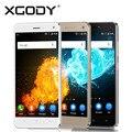 XGODY 5 Дюймов 1 ГБ RAM 8 ГБ ROM X13 Смартфон 3 Г/2 Г Android 5.1 Quad Core 2SIM Мобильный Телефон С 5.0 МП Камерой Телефона