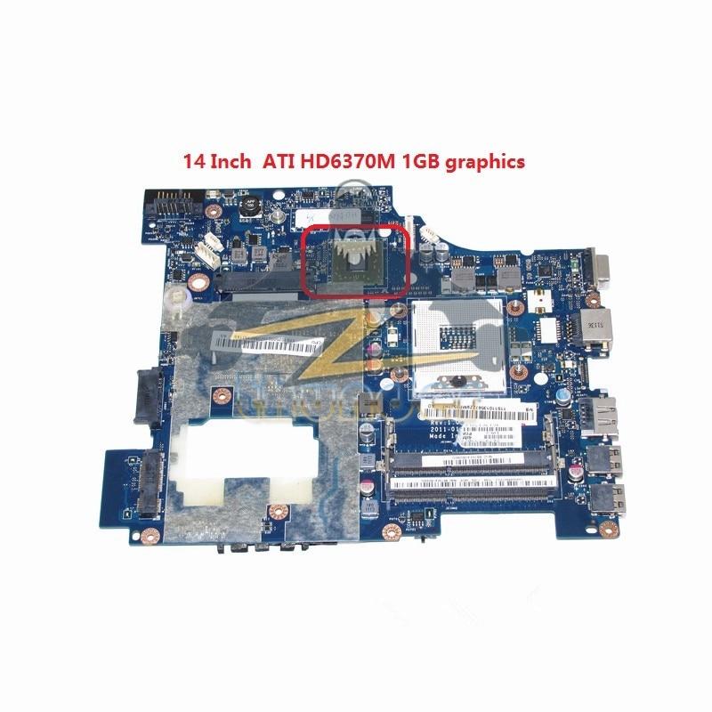 PIWG1 LA-6751P 11S10250000 for lenovo ideapad G470 14 inch laptop motherboard HD6370M HM65 DDR3 new la 6759p for lenovo g470 laptop motherboard hm65 ddr3 intel gma hd 3000