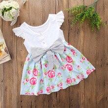 MUQGEW hot sale dress Infant Baby Girls Dress Floral Print Pocket Ruffle O-Neck Knee-Length Dress Outfits menina de roupas