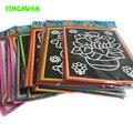 20 pçs/lote 13*9.5 cm Dois-em-um da Magia da Cor Do Zero Arte Cartões Raspagem Desenho De Papel Para Colorir brinquedos para As Crianças