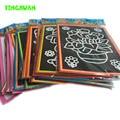 20 unids/lote 13*9.5 cm dos-en-uno Color Magic Colorear Tarjetas De Arte Del Rasguño Del Papel Dibujo Raspado juguetes para Los Niños